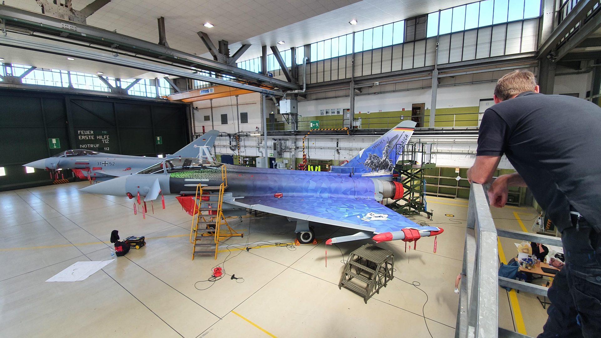 Eurofighter Folierung im Digtaldruck