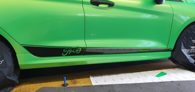 Ford Fiesta kellygreen Teckwrap