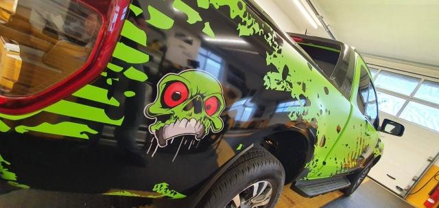 Ford Ranger limegreen matt und Design