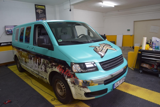VW T5 im Hawaii Design mit Usedlook