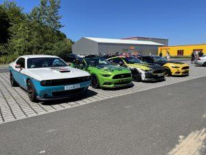 US Car Treffen unsrere folierten Fahrzeuge (ein kleiner Teil)
