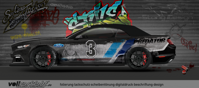 Mustang Gen6 S550 Graffiti Design