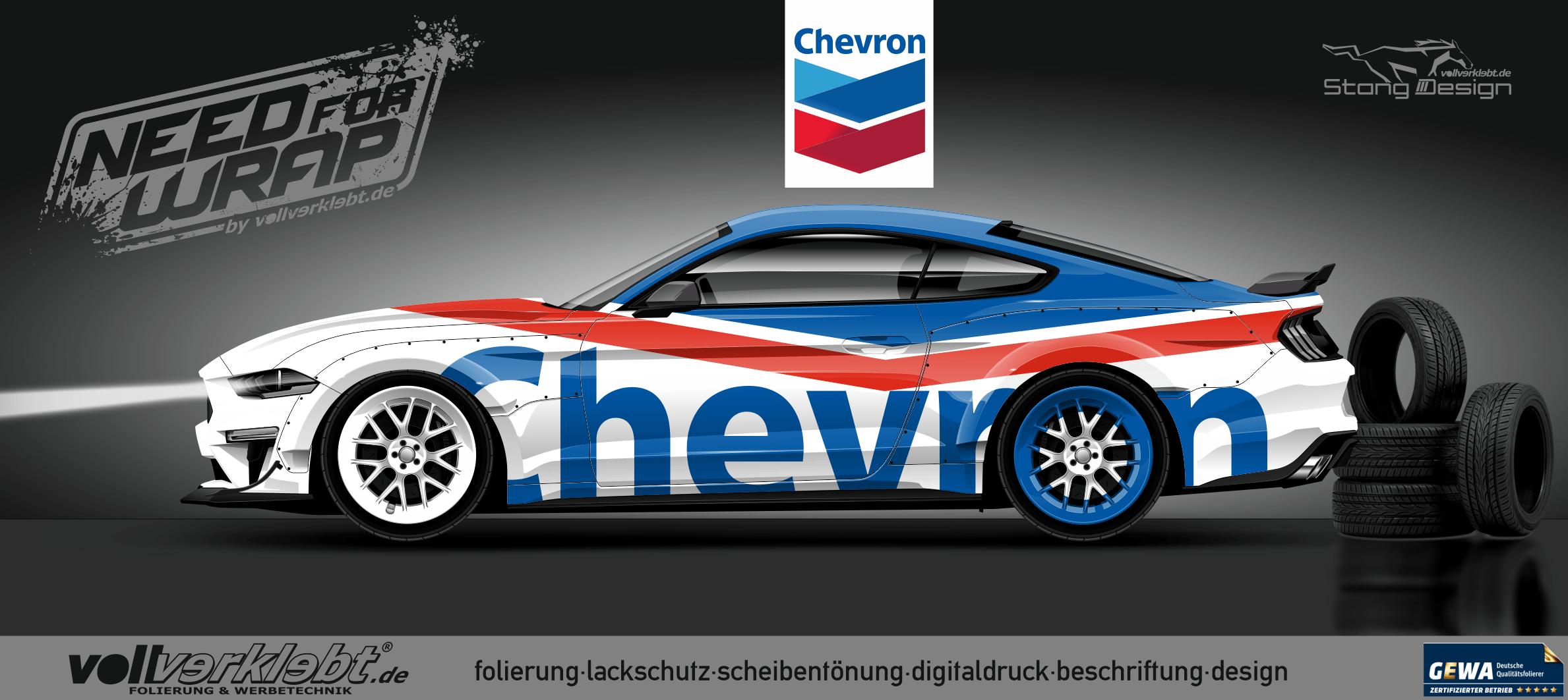 Chevron Mustang