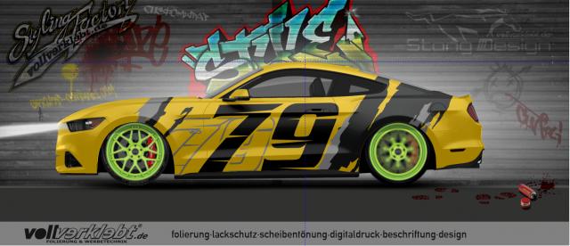 Mustang Gen6 S550 yellowblack Design