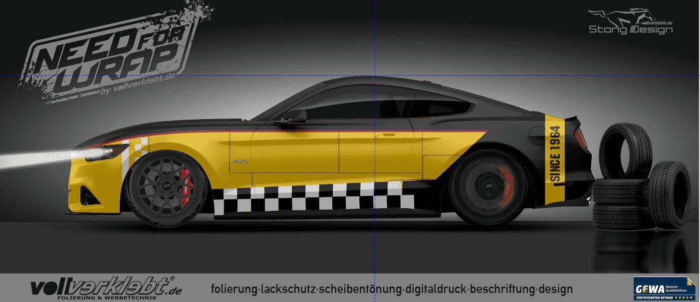 Mustang Gen6 S550 blackyellow Design