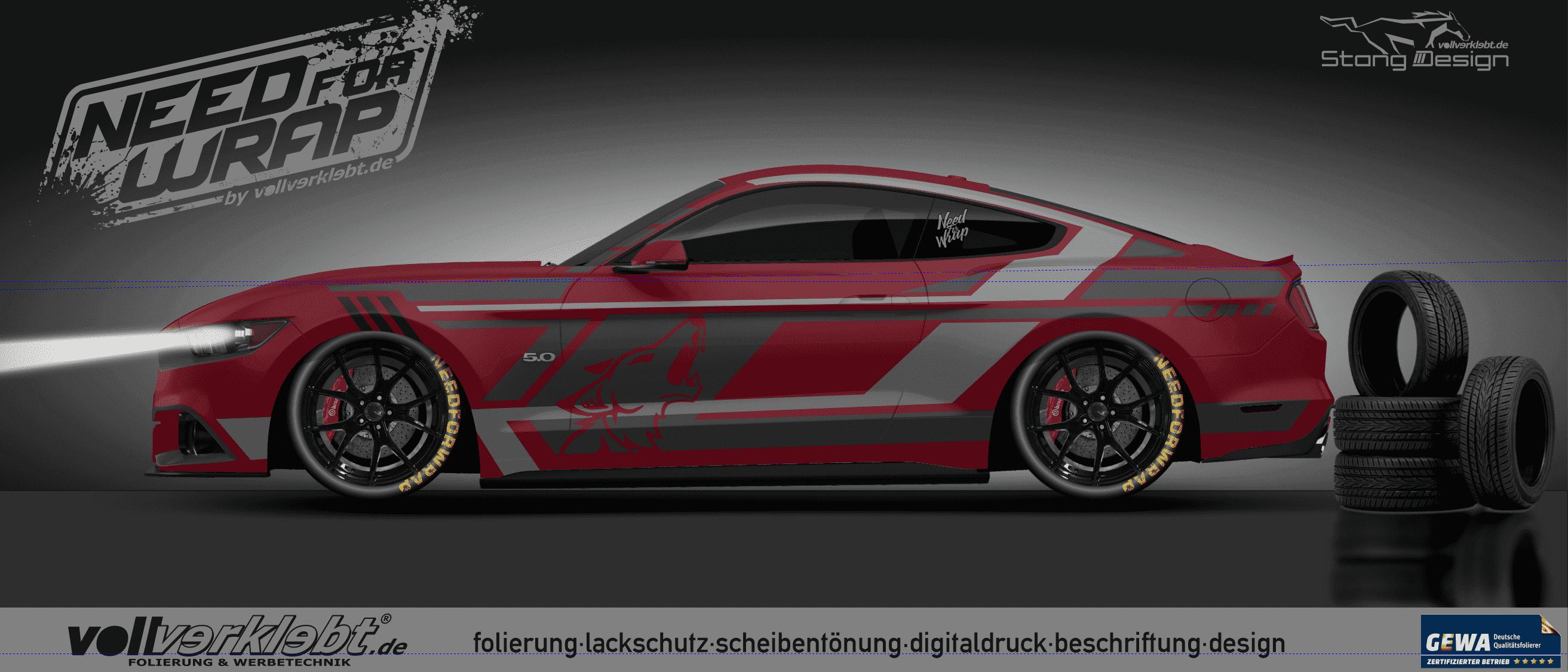 Mustang Gen6 S550 RUBYRED Design